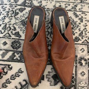 Vintage Steve Madden brown leather mules 6 1/2